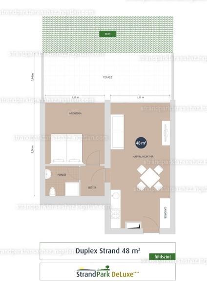 StrandPark DeLuxe ( III. Ütem ) - 2 szoba kertkapcsolattal