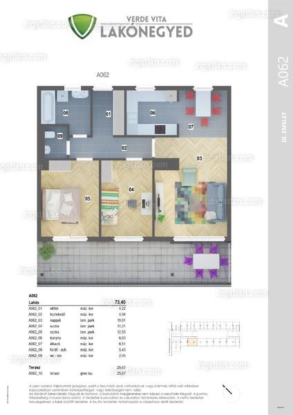 Verde Vita Vác - 3 szoba erkéllyel