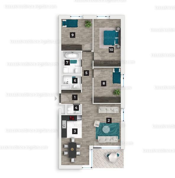 Kassák Residence - 2 + 2 szoba erkéllyel