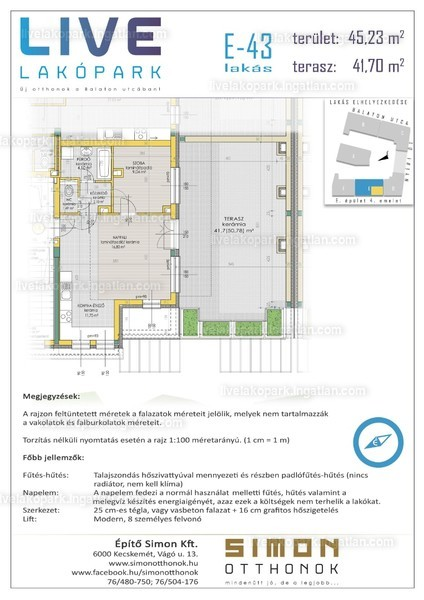 LIVE lakópark - 2 szoba erkéllyel