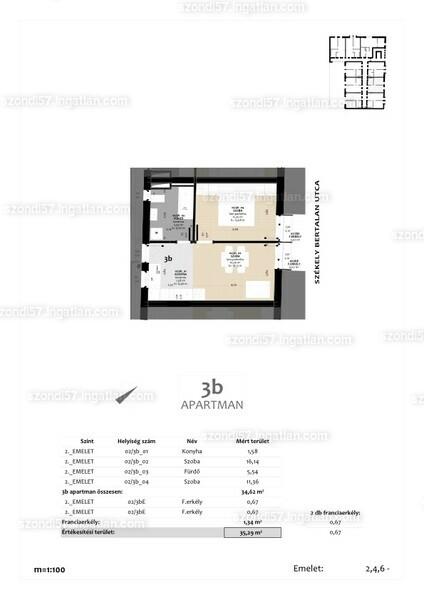 Szondi57 - 2 szoba erkéllyel