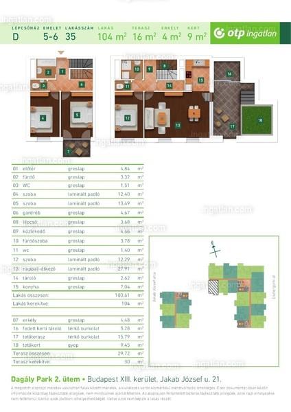 Dagály Park 2. ütem - 4 szoba erkéllyel