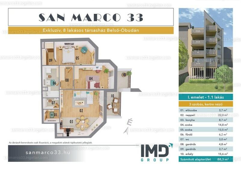 SAN MARCO 33 - 3 szoba erkéllyel
