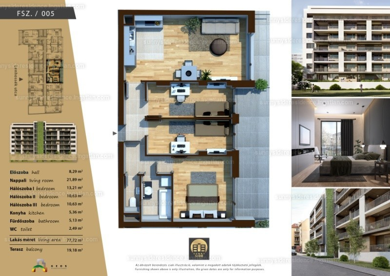 Sunny Side Residence - 4 szoba erkéllyel