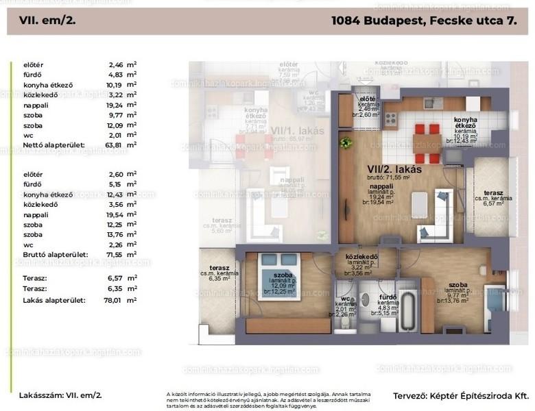 Dominika Ház - 2 + 1 szoba erkéllyel