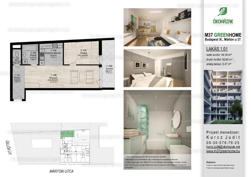 M37 Green Home - 2 szoba erkéllyel