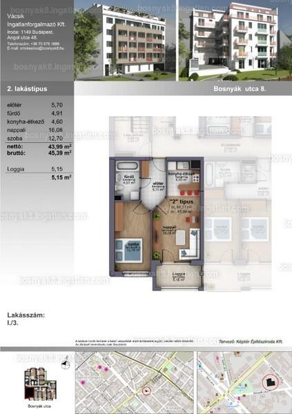 B8 Zugló - 2 szoba erkéllyel