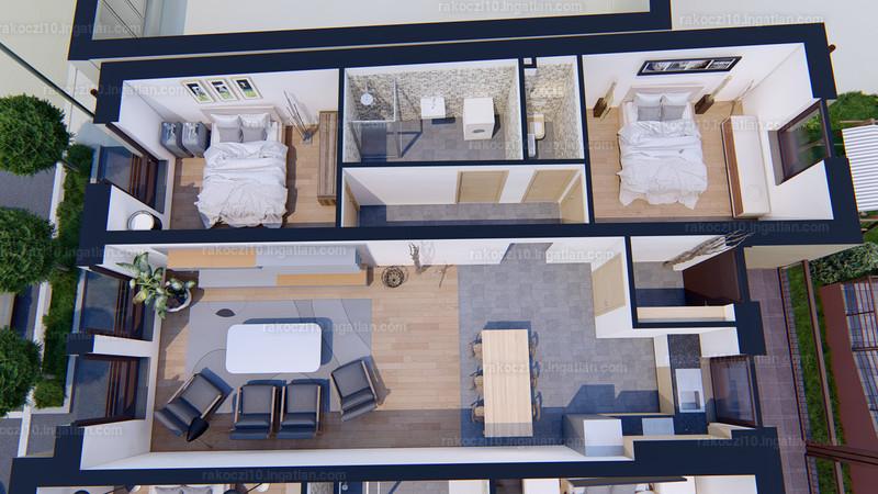 Rákóczi10 Lakópark - 3 szoba