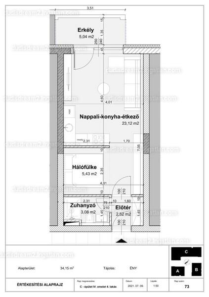 Dudi's Dream Lakópark 2.ütem - 1 szoba erkéllyel