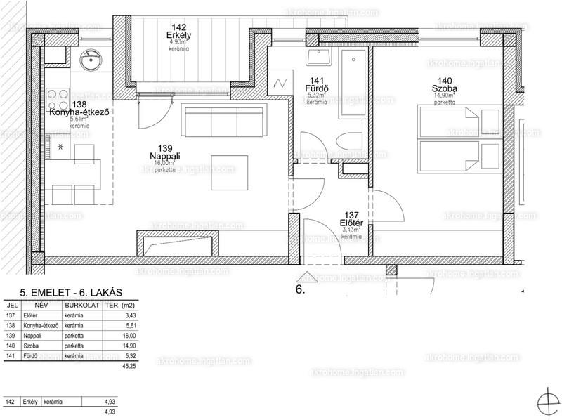 BRSS106 - 2 szoba erkéllyel