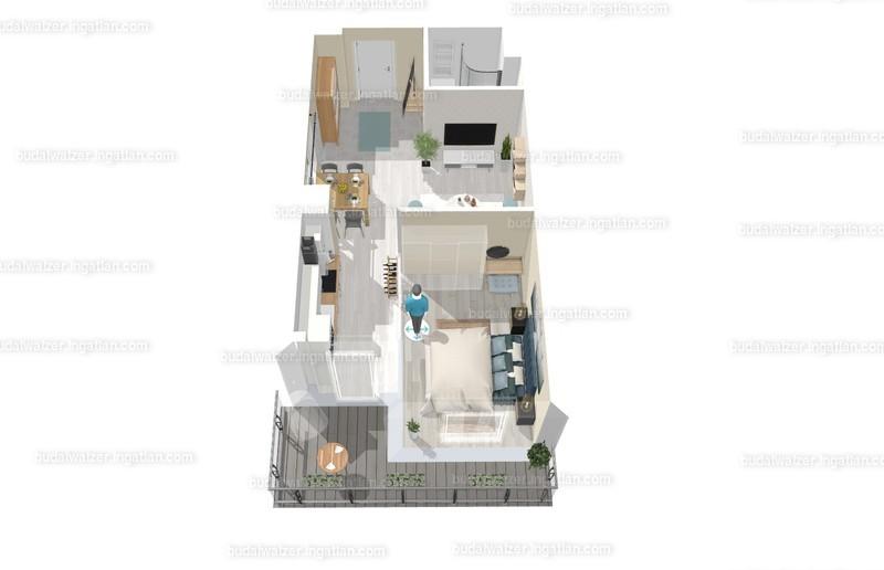 Budai Walzer I. ütem - 1 + 1 szoba erkéllyel