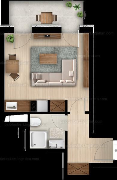 Palotás Kert Lakópark - 1 szoba erkéllyel