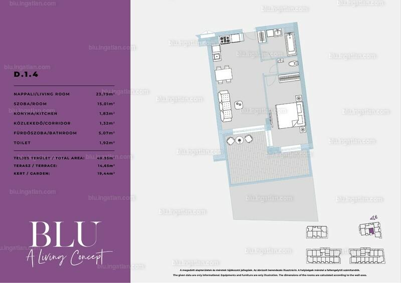 BLU - 2 szoba kertkapcsolattal