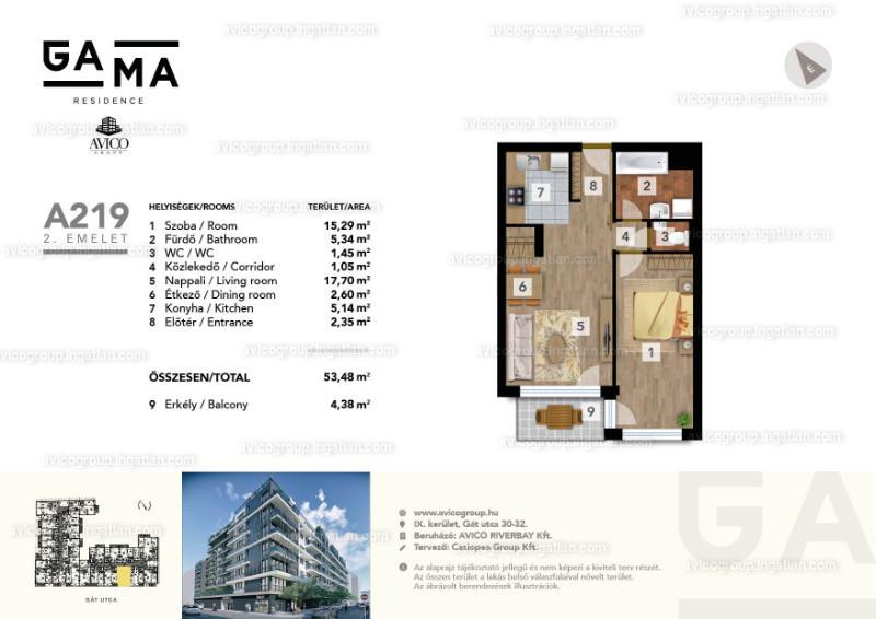 GAMA Residence - 2 szoba erkéllyel