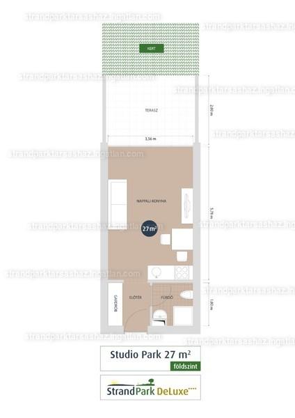 StrandPark DeLuxe ( III. Ütem ) - 1 szoba kertkapcsolattal