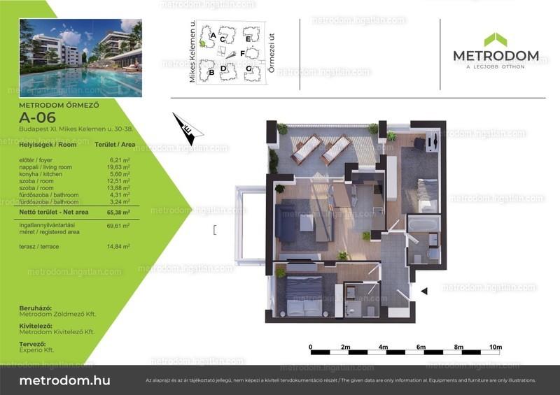 Metrodom Őrmező - 3 szoba erkéllyel