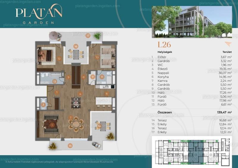 Platán Garden - 4 szoba erkéllyel