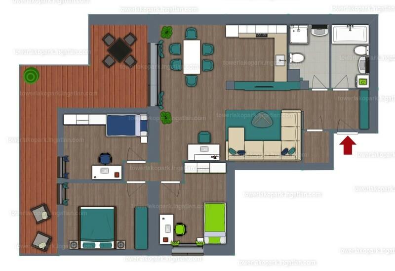Tower Lakópark - 4 szoba erkéllyel