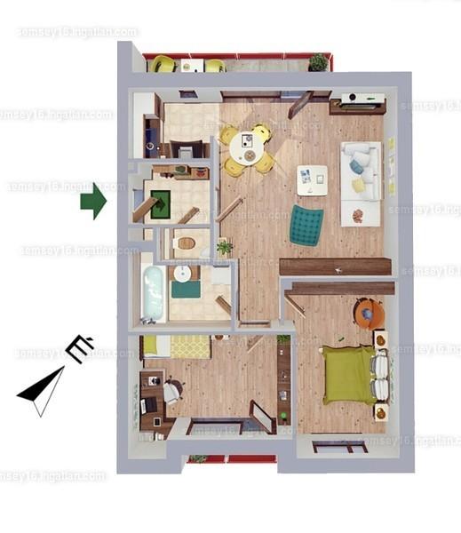 Semsey 16 - 3 szoba erkéllyel
