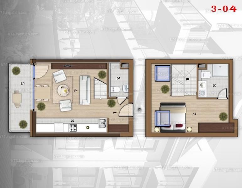 K74 - 2 szoba erkéllyel