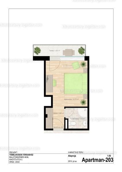 Kikötő sétány apartmanok - 1 szoba erkéllyel