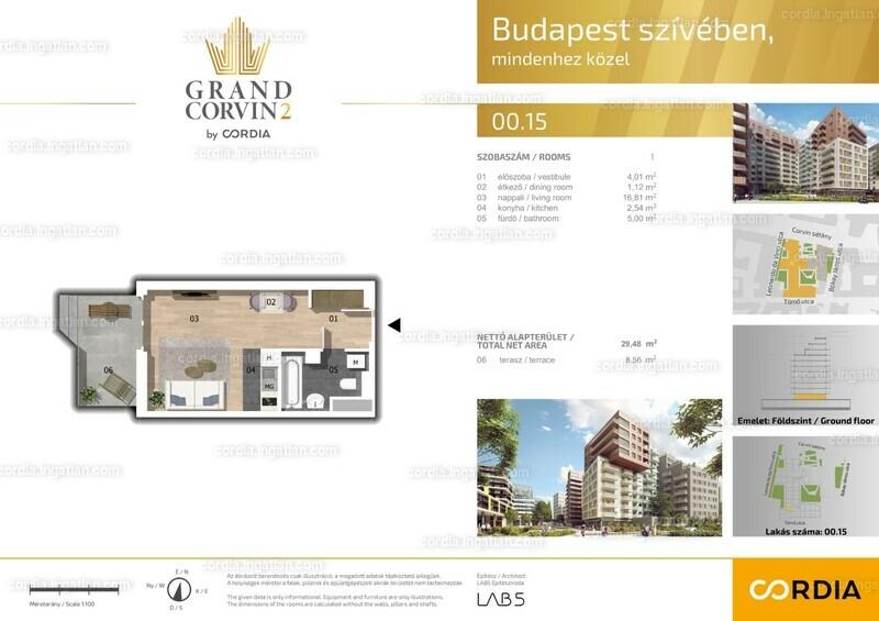 Grand Corvin 2 by Cordia - 1 szoba erkéllyel