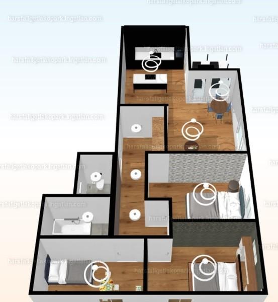 Hársfaliget Lakópark - 4 szoba erkéllyel