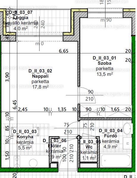 Tavirózsa Lakópark Győr - 2 szoba erkéllyel