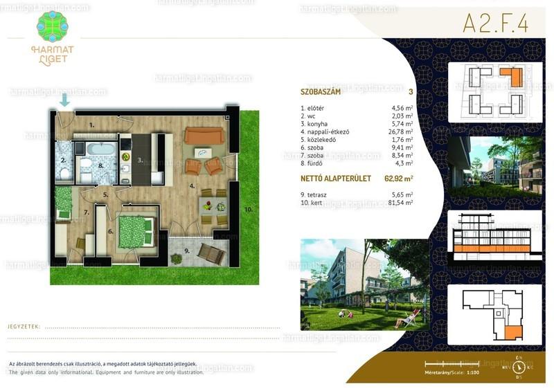 Harmat Liget lakópark I. ütem - 3 szoba kertkapcsolattal