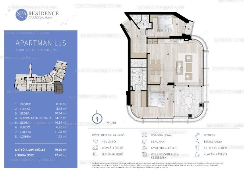 Spa Residence Carbona, Hévíz - 3 szoba erkéllyel
