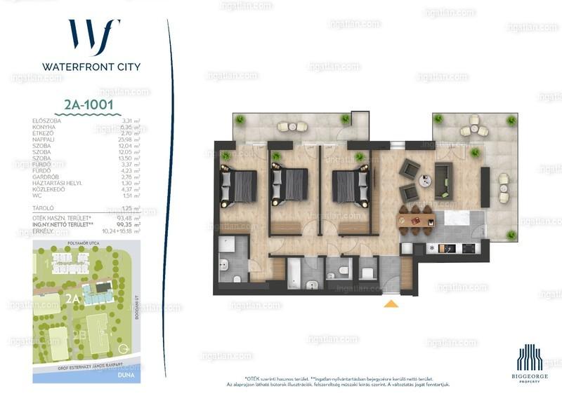 Waterfront City - 4 szoba erkéllyel