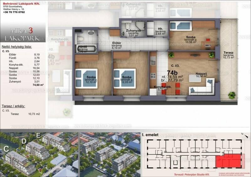 Mira Garden Lakópark III. - 4 szoba erkéllyel