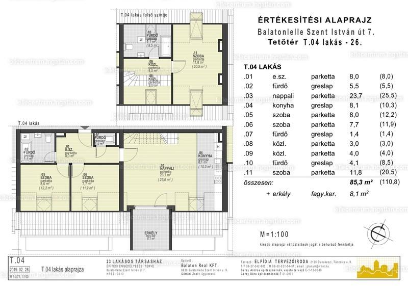 Lelle Centrum Társasház - 4 szoba erkéllyel