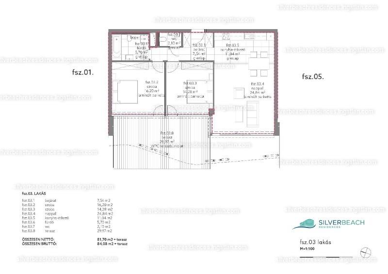 Silverbeach Residences - 3 szoba kertkapcsolattal