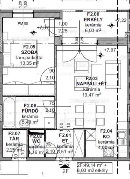 Zsófiaház - 1 szoba erkéllyel