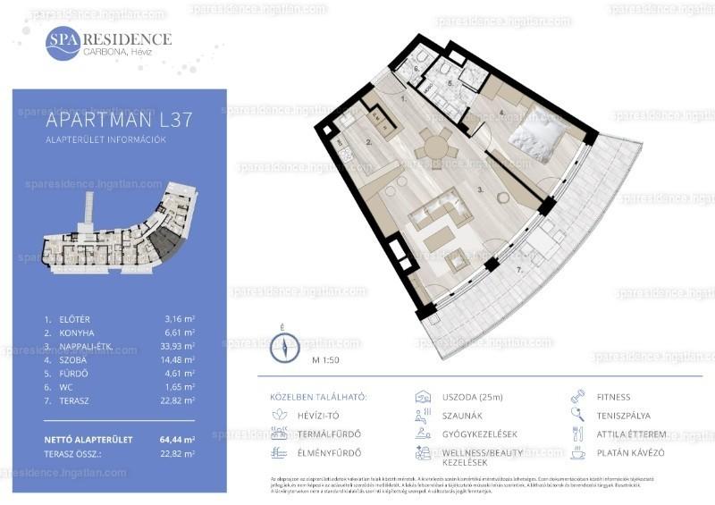 Spa Residence Carbona, Hévíz - 2 szoba erkéllyel