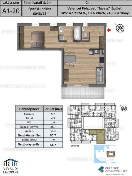 Vivaldi Lakópark - 2 szoba erkéllyel