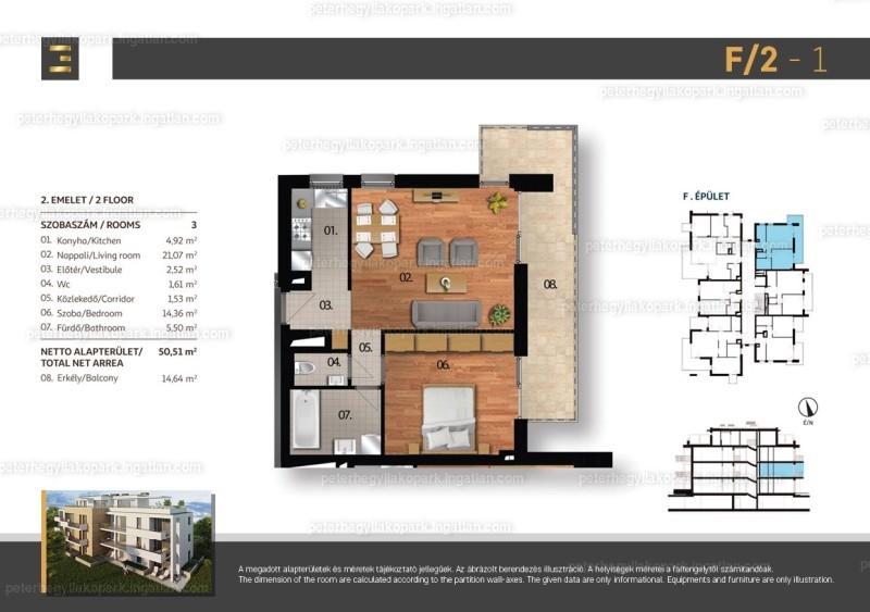 Péterhegyi Lakópark - 2 szoba erkéllyel