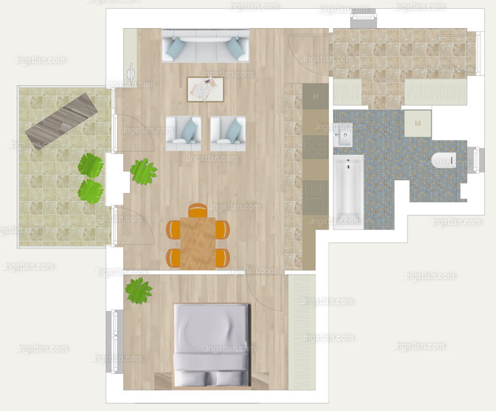 Pápay Park - 2 szoba erkéllyel