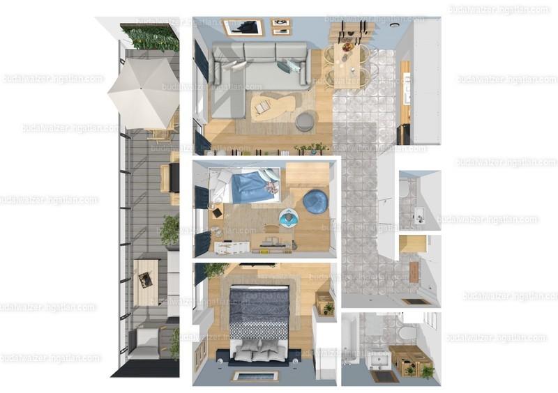 Budai Walzer I. ütem - 3 szoba erkéllyel