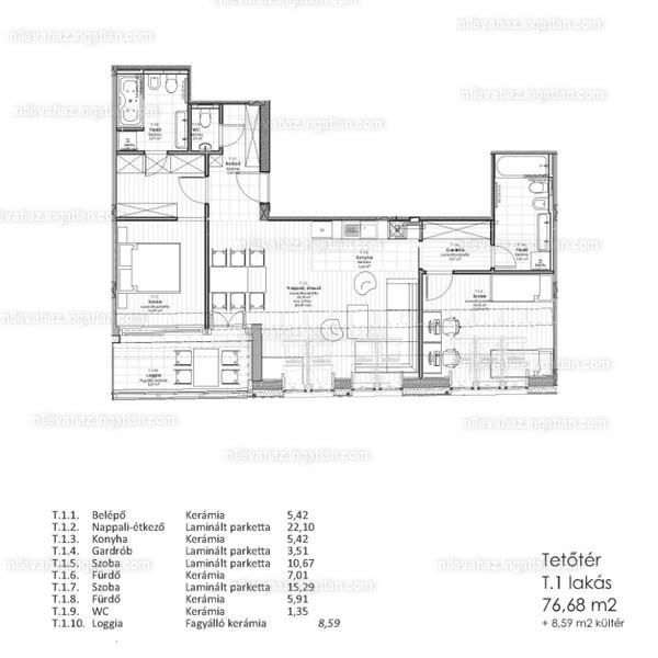 Miléva Ház - 3 szoba erkéllyel