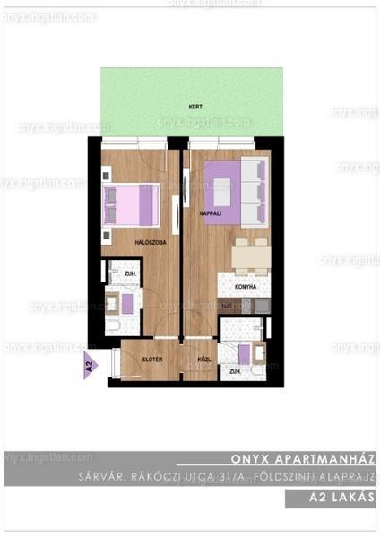 ONYX **** Luxury II. ütem - 2 szoba erkéllyel