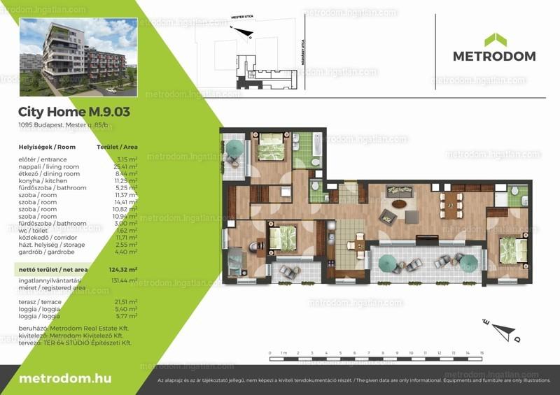 Metrodom City Home L-M - 4 + 1 szoba erkéllyel
