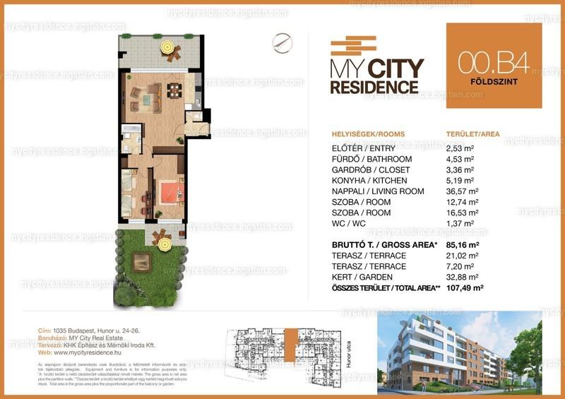 MyCity Residence - 3 szoba kertkapcsolattal