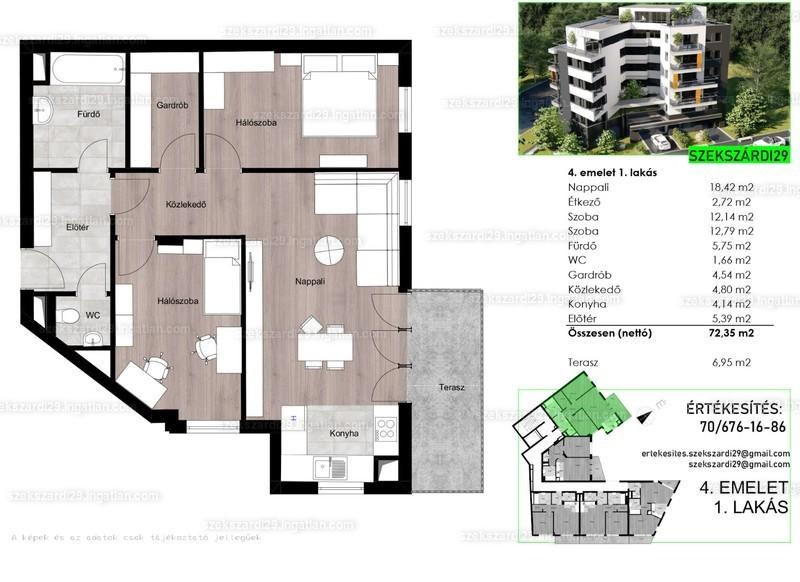 Szekszárdi29 - 3 szoba erkéllyel