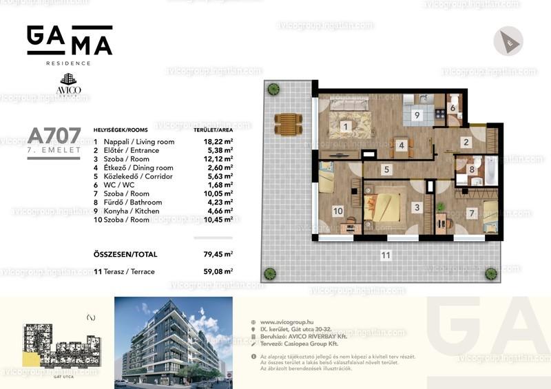GAMA Residence - 4 szoba erkéllyel