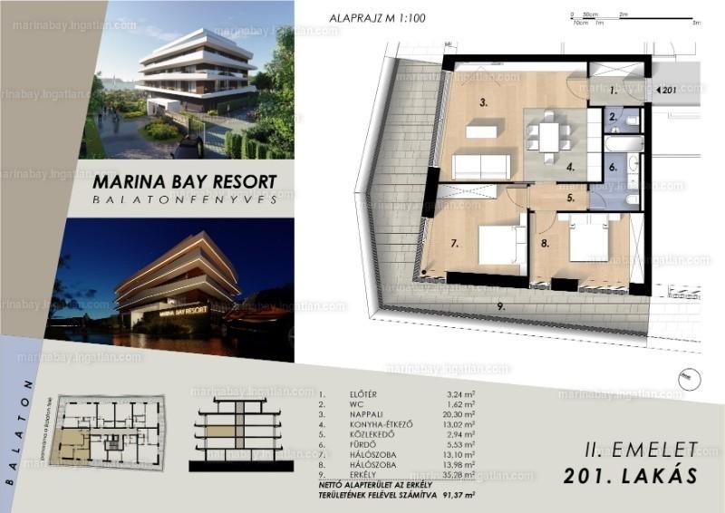 Marina Bay Resort - 3 szoba erkéllyel