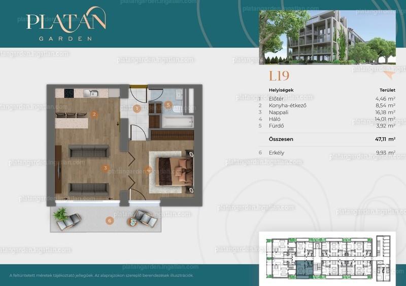 Platán Garden - 2 szoba erkéllyel
