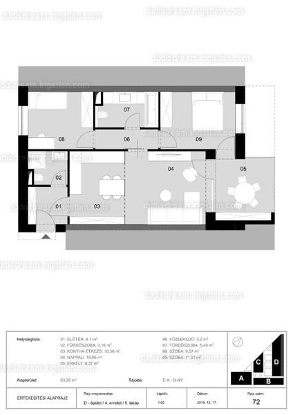 3 szoba erkéllyel