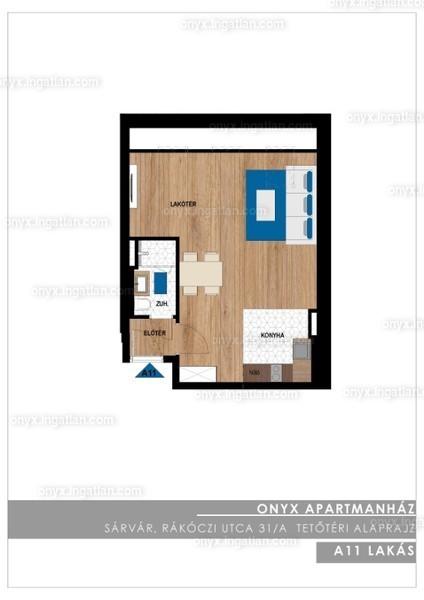 ONYX **** Luxury II. ütem - 1 szoba